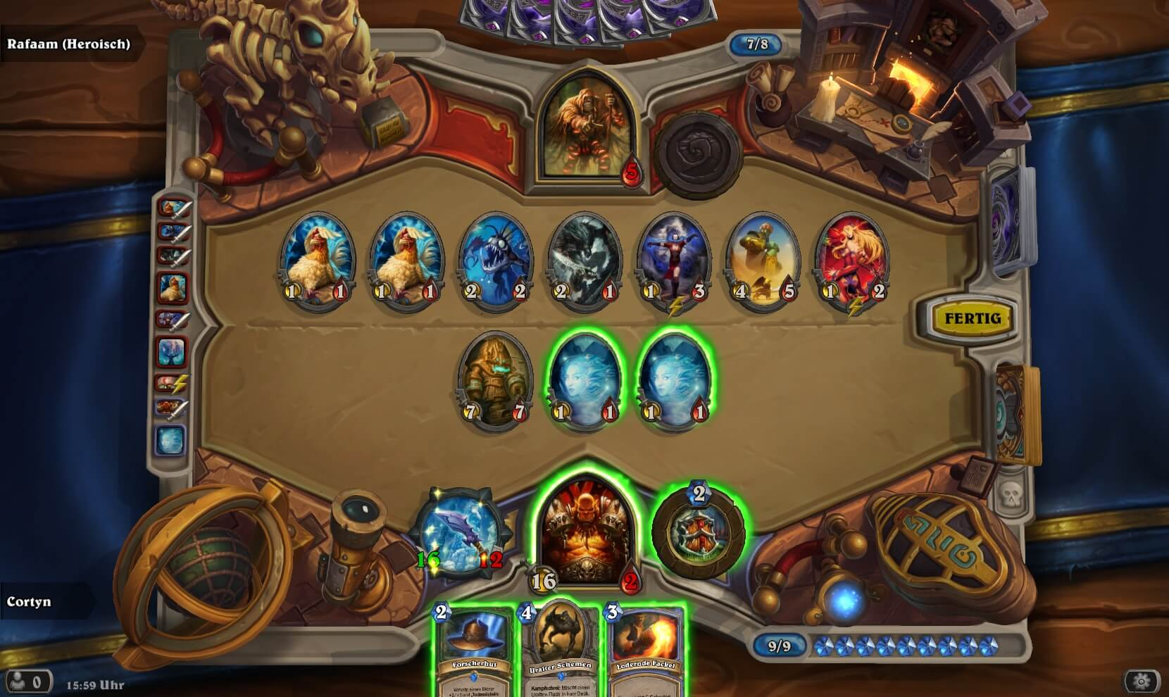 Hearthstone Rafaam heroisch Gameplay