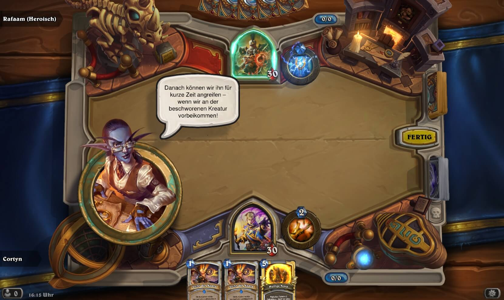 Hearthstone Rafaam unleashed Gameplay