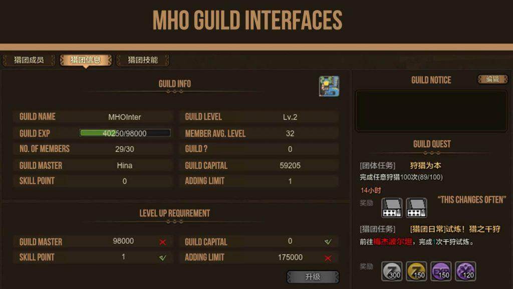 MHO Translation Guildscreen