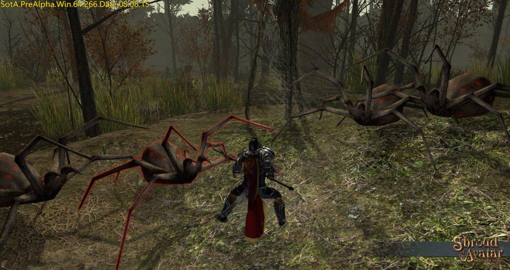 shroud of the avatar spinnen