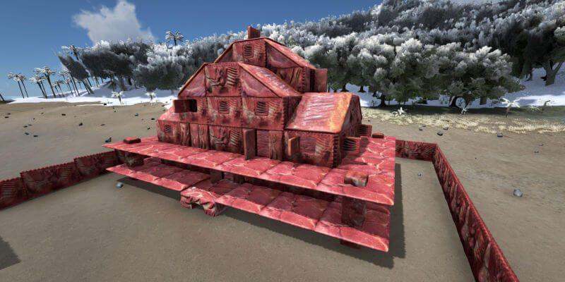 ARK: Dinos wieder gebufft und ein Haus aus Fleisch
