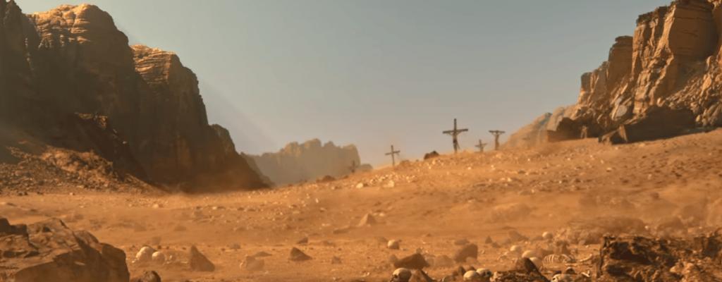 Conan Exiles startet mit einer Kreuzigung und von da an wird es nur besser