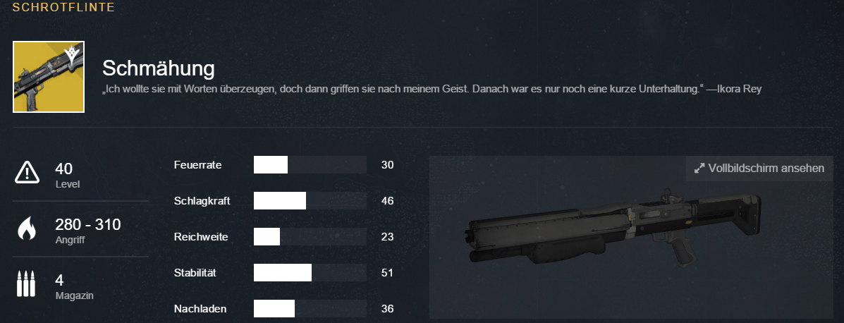 Destiny-Schmaehung