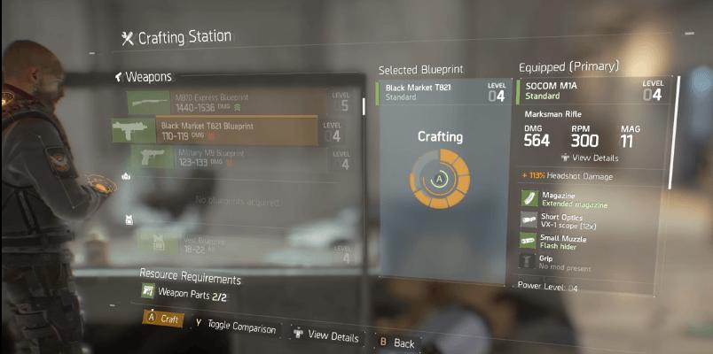 The Division: So funktioniert das Crafting – Stellt Eure eigene Ausrüstung her