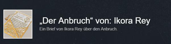 Ikora-Rey-Anbruch