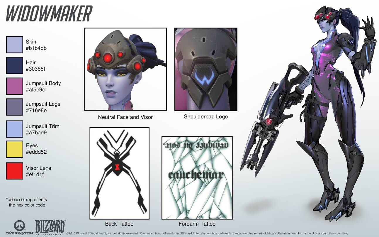 Overwatch Widowmaker Kit 2