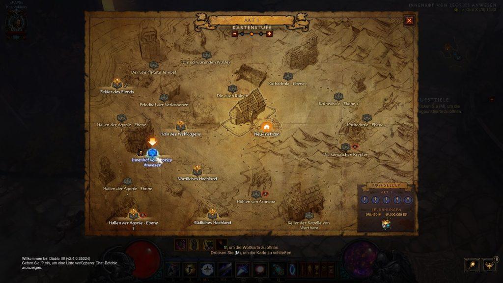 Diablo 3 Portpunkt für Setportal Hinweise