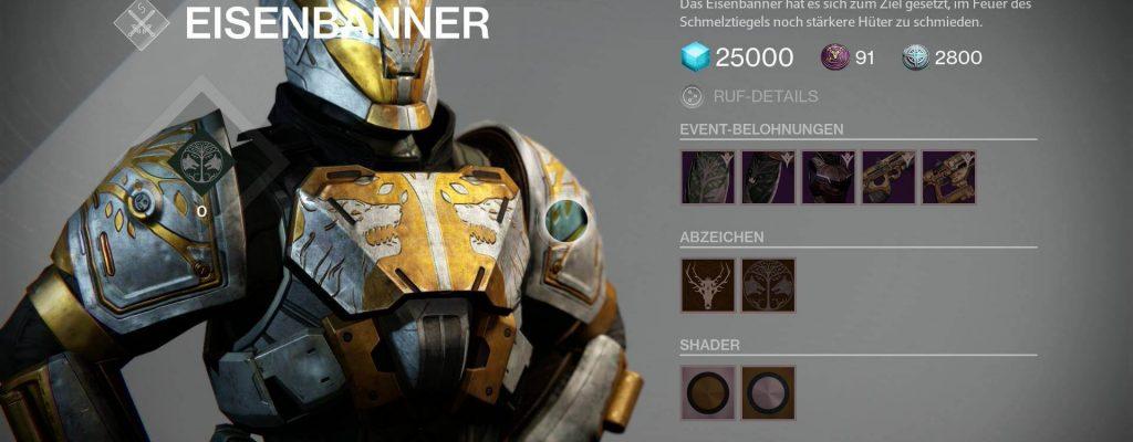 Destiny: Alles zum Eisenbanner im Januar – Das sind die Belohnungen und so kommt Ihr ran