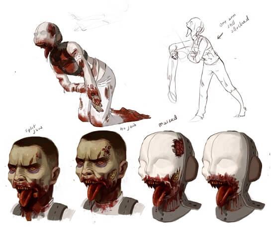 Schrei-Zombie