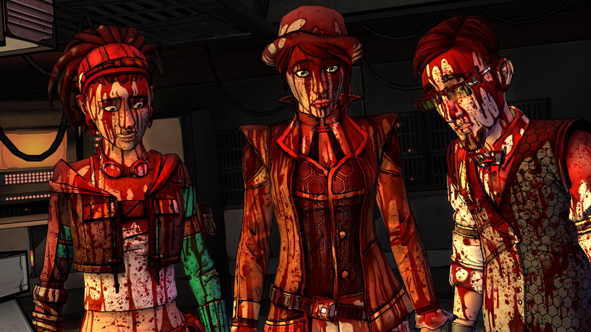 Telltale Borderlands Blood splatter