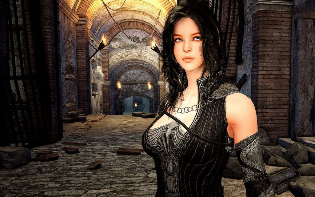 Black Desert Online black haired female witch