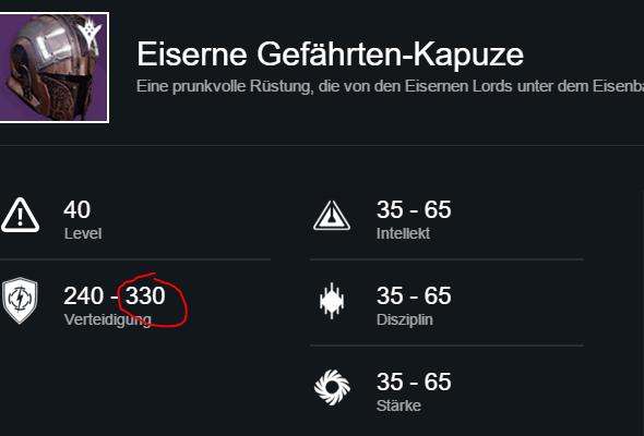 Destiny: Offizielle Datenbank zeigt Items mit bis zu 330 Licht