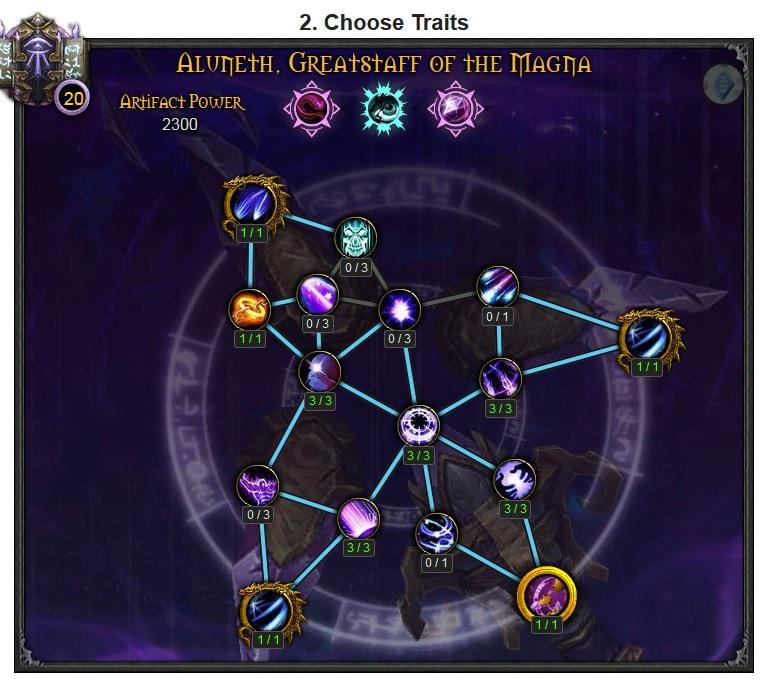 WoW Legion Artifact traits Arcane Mage