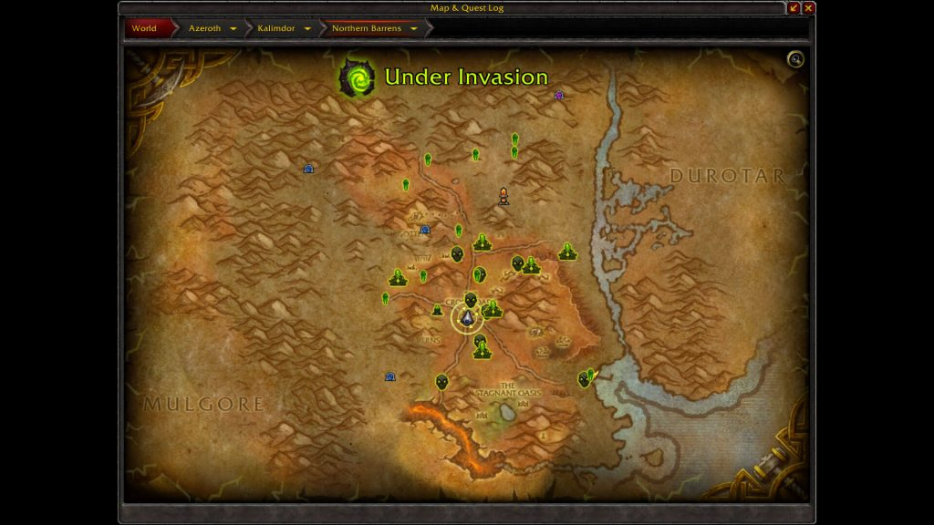 WoW Legion Preevent Map