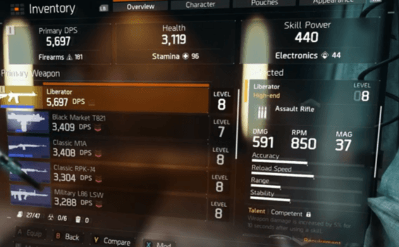 The-Division-Liberator-Stats