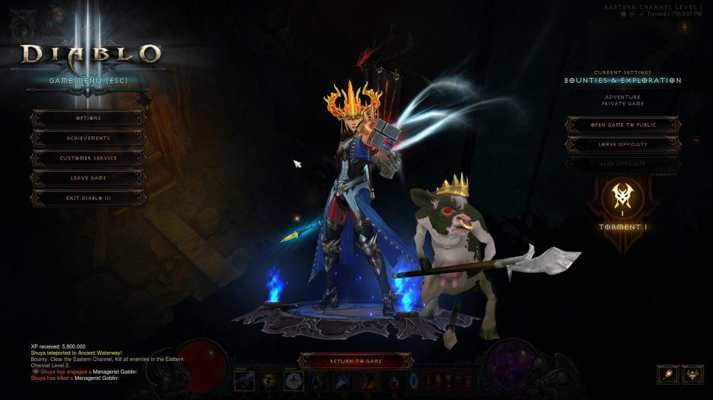 Diablo 3 Begleiter Kuh König