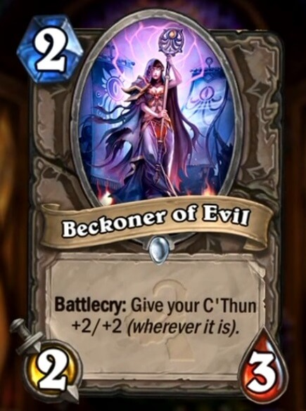 Hearthstone Wotog Beckoner of Evil