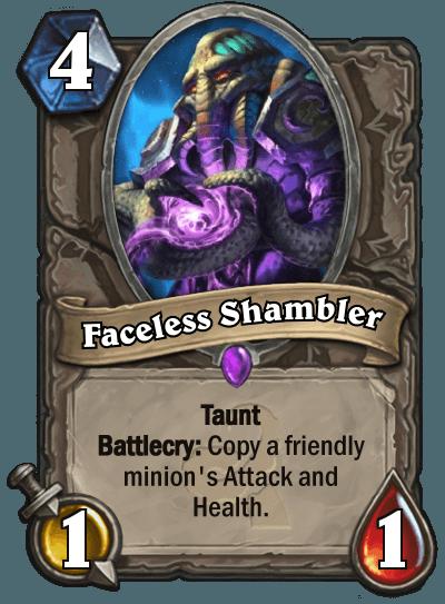 Hearthstone Wotog Faceless Shambler