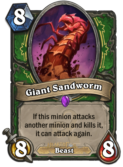 Hearthstone Wotog Giant Sandworm