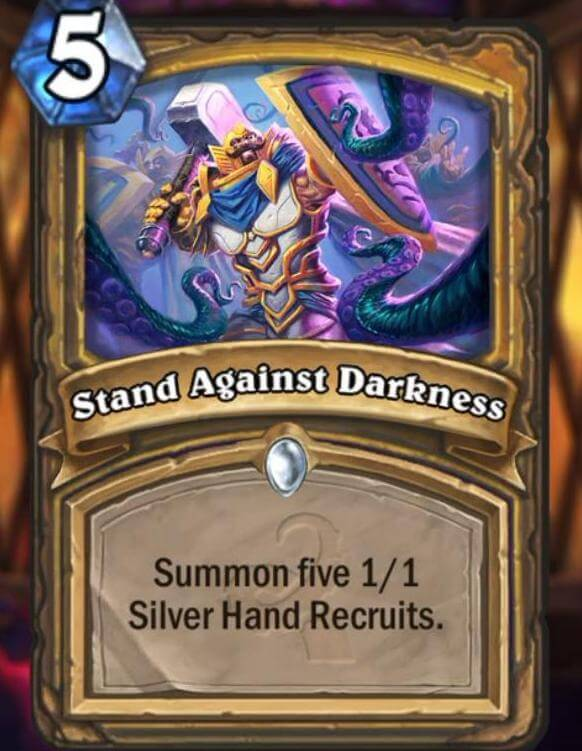 Hearthstone Wotog Stand Against Darkness
