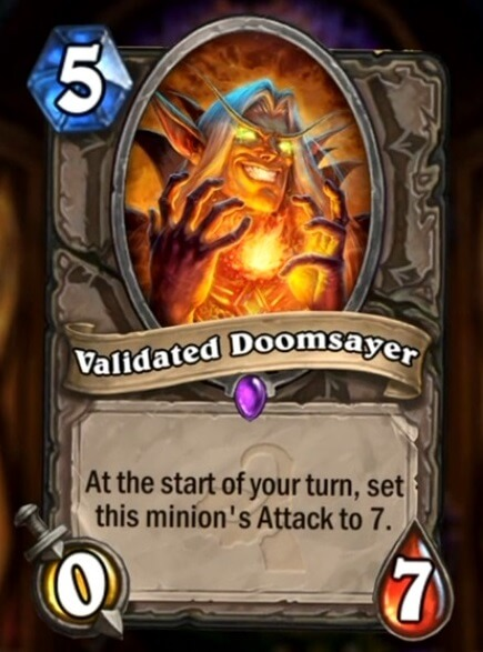 Hearthstone Wotog Validated Doomsayer