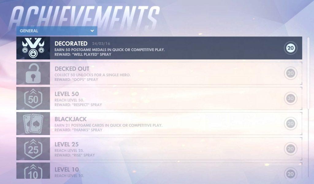 Overwatch Achievements