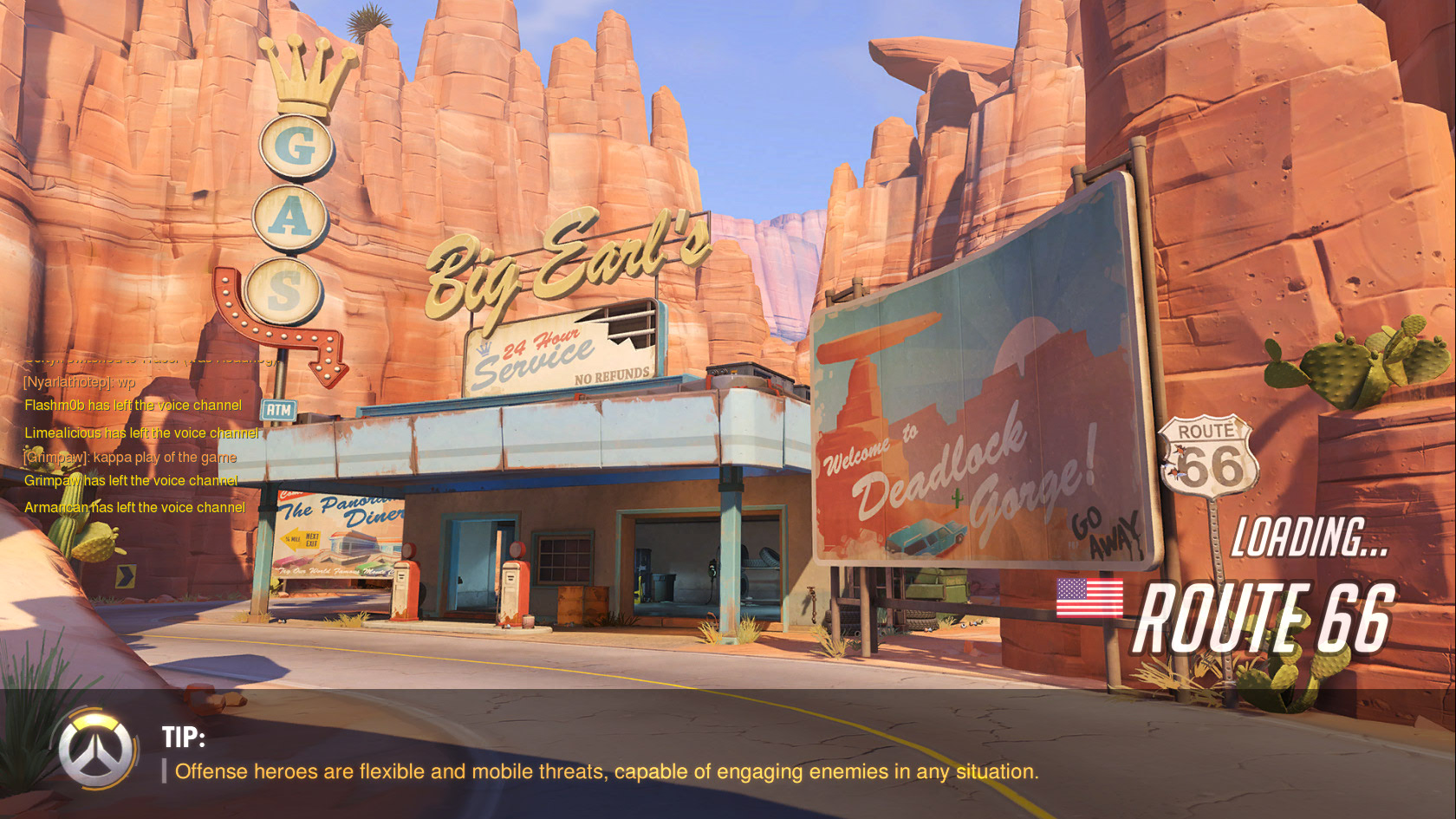 Overwatch Route 66 Map