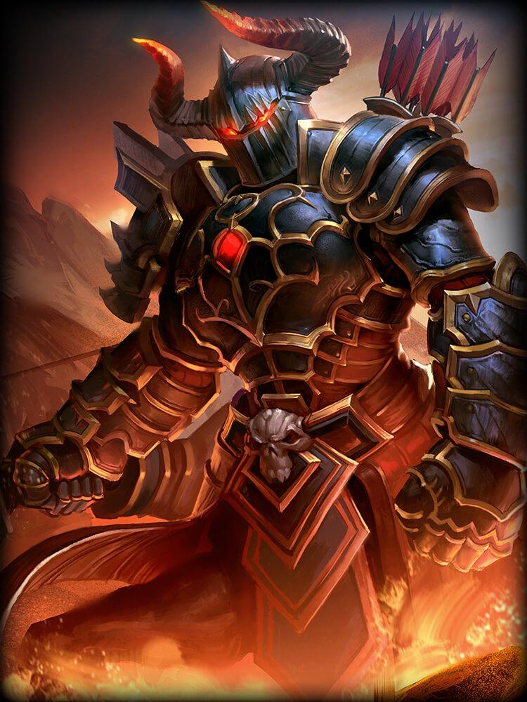 Smite Chiron Hellrider God Card