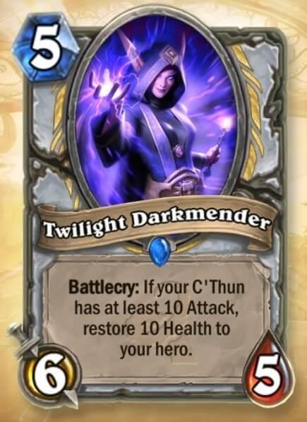 Hearthstone Wotog Twilight Darkmender