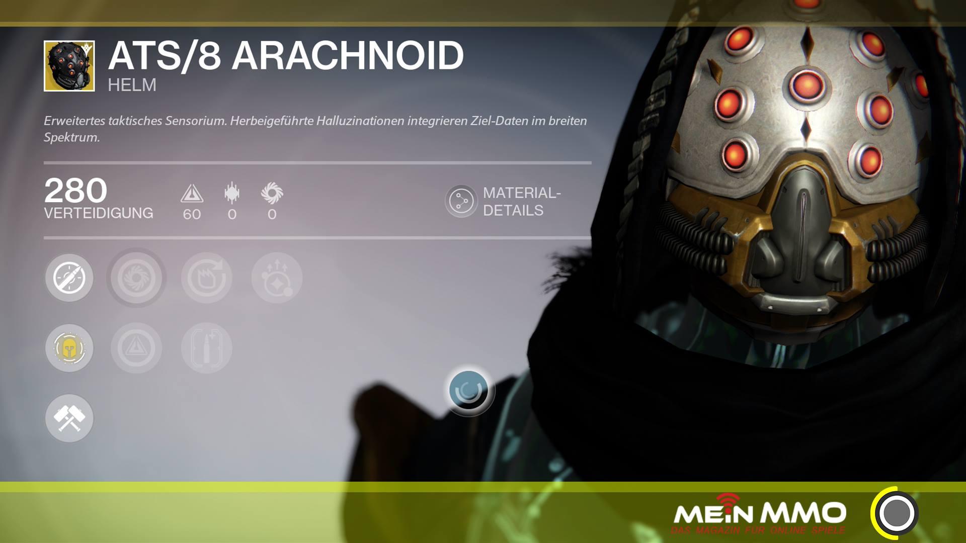 Destiny ATS 8 Arachnoid Helm