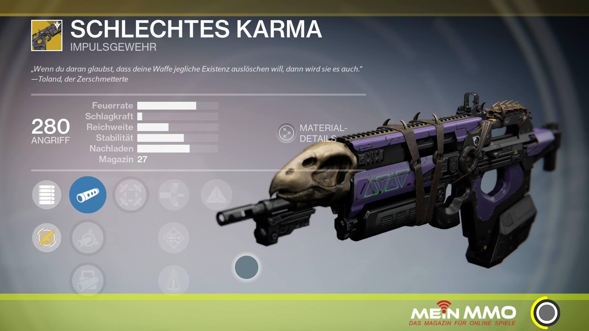 Destiny Schlechtes Karma Impulsgewehr