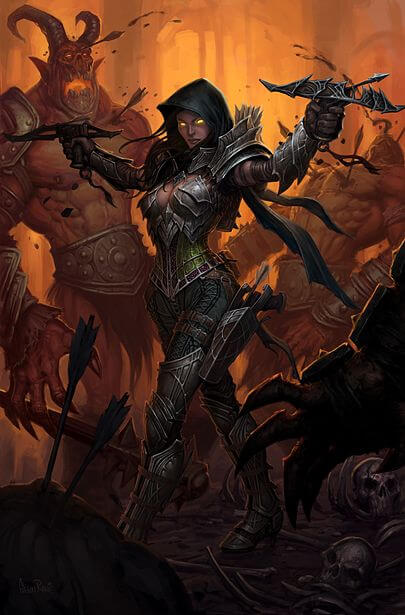 Diablo 3 Dämonenjäger Artwork