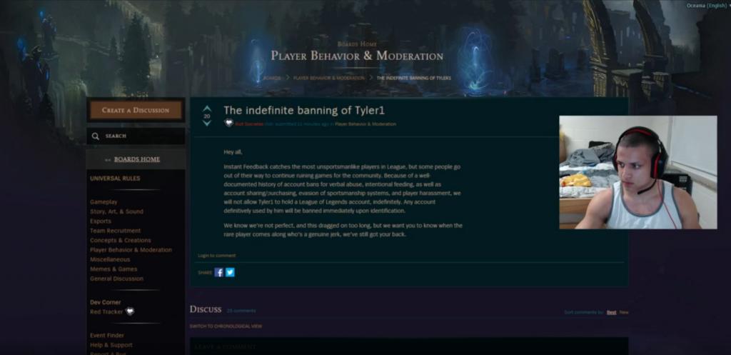LoL Stream Ban Moment