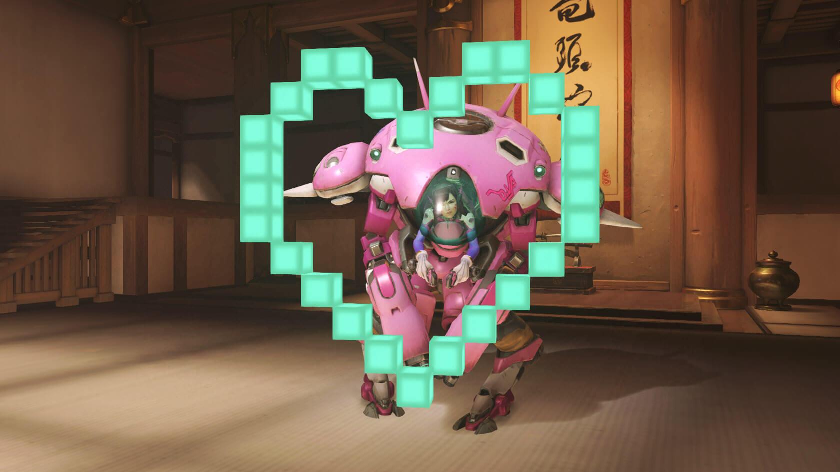 Overwatch Dva Emote Heart