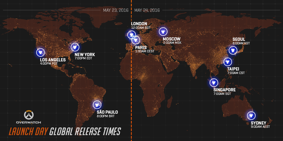 Overwatch Release Times