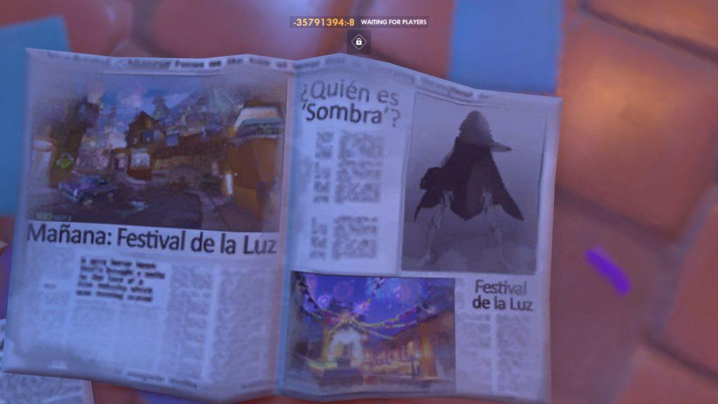 Overwatch Sombra Newspaper