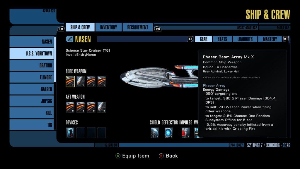 Star Trek Online Console Interface