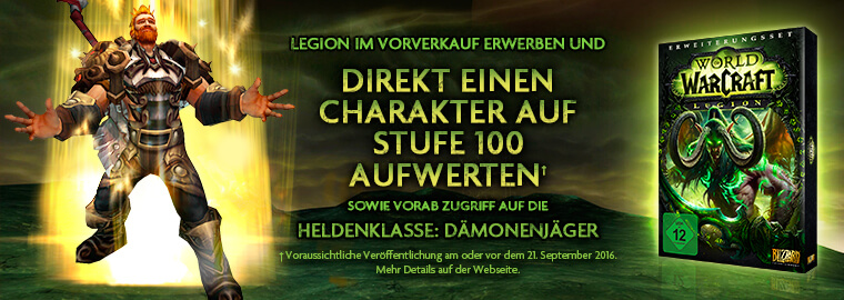World of Warcraft Legion vorbestellen