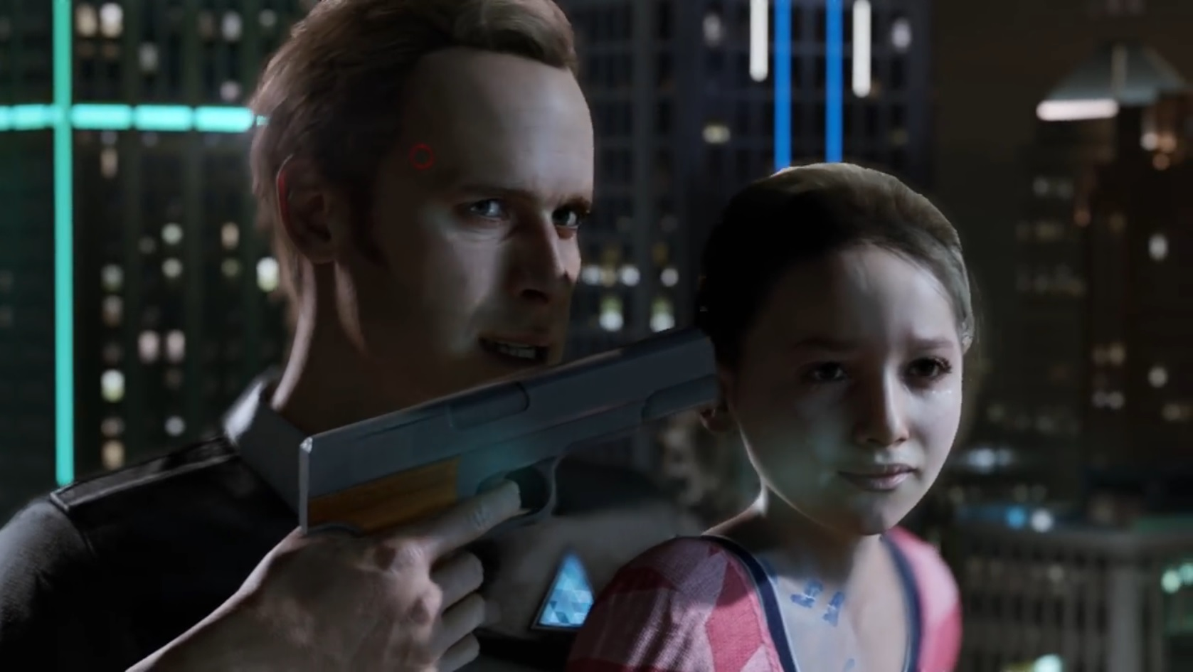 Detroit Become Humane Android gun girl