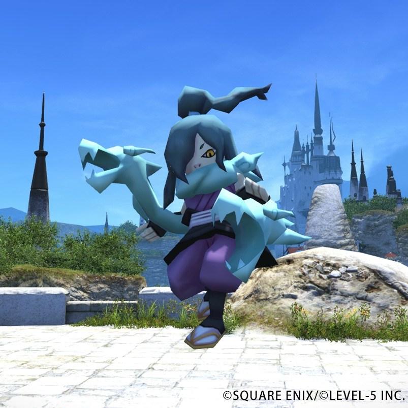 Final Fantasy 14 Yo-Kai Blue something