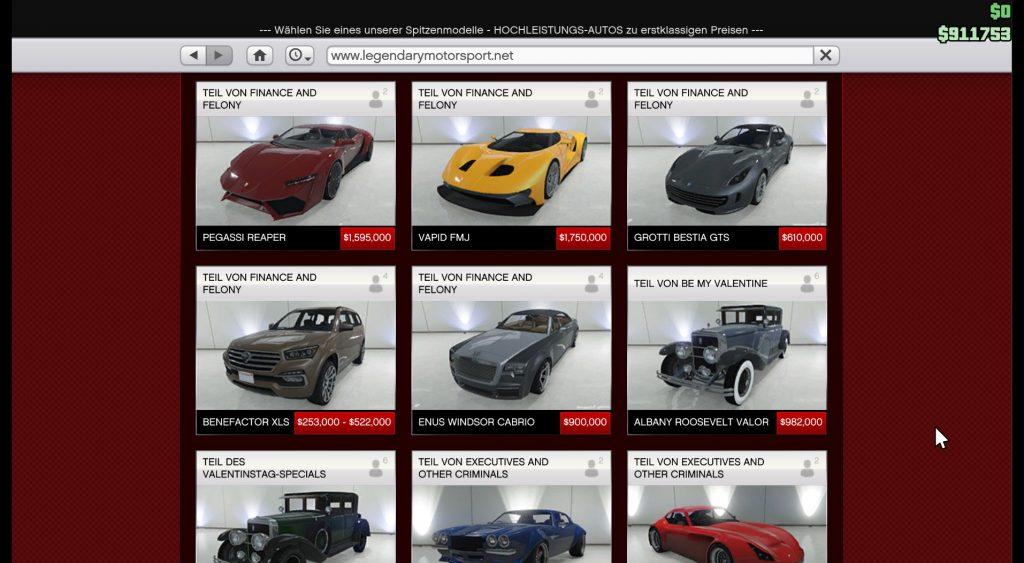 GTA 5 Update Autos