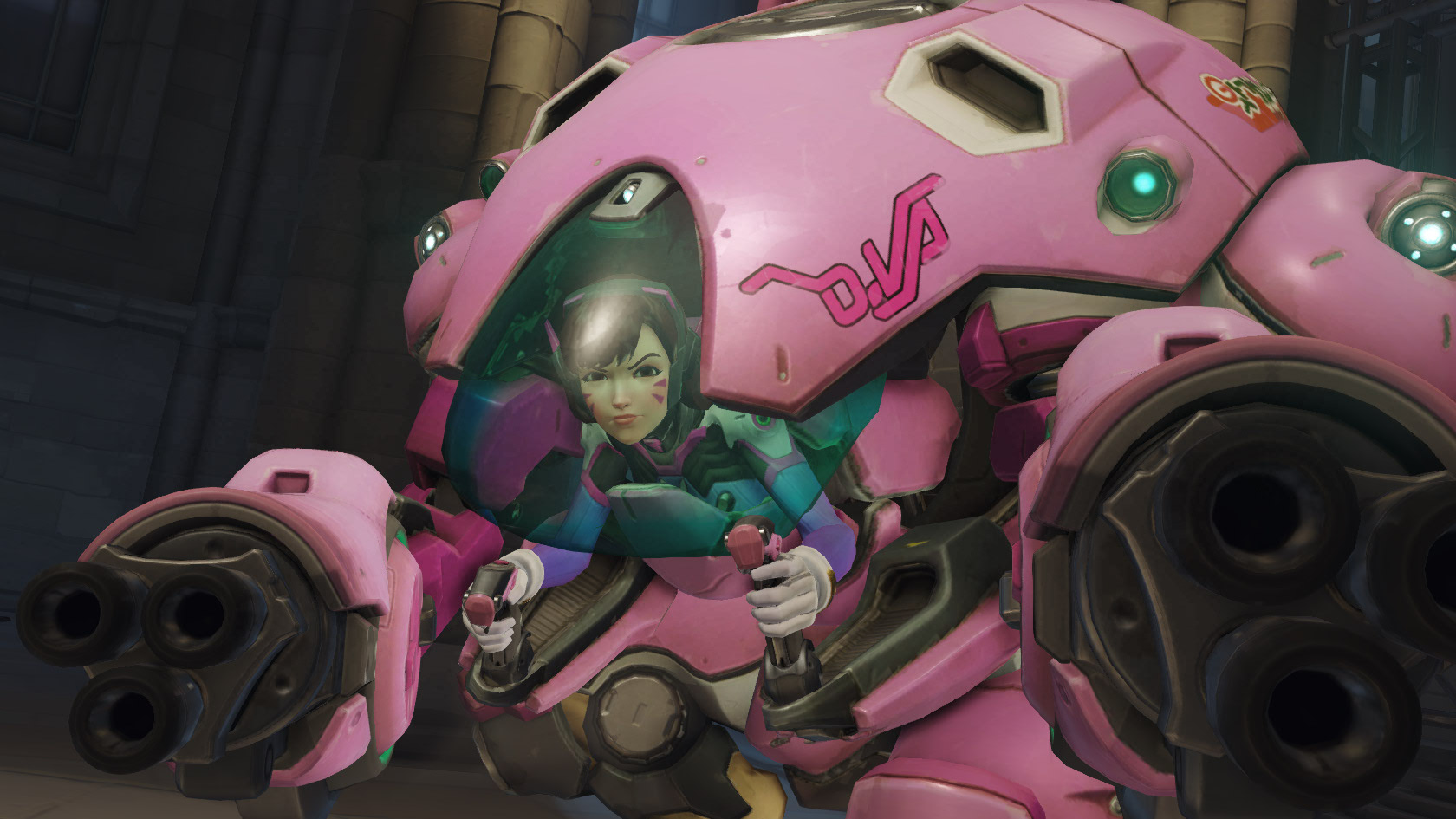 Overwatch Dva shooting