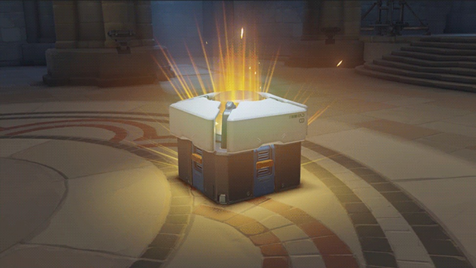 Overwatch Lootbox Opening Animation