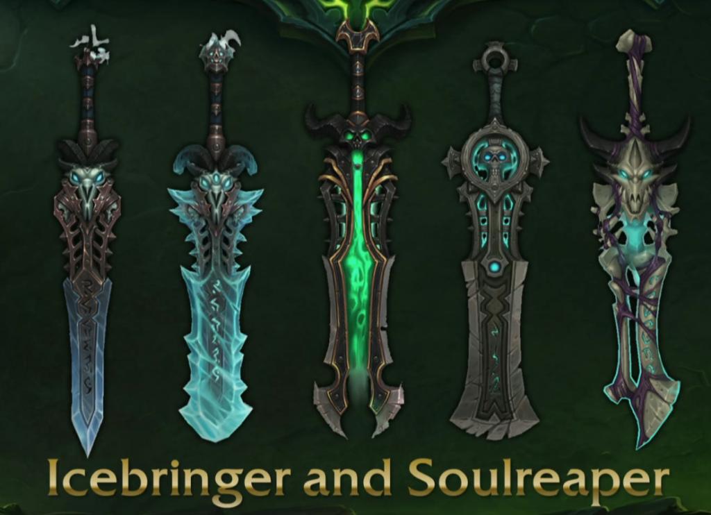 WoW Legion Artifact Deathknight Blades of the Fallen Prince