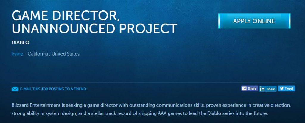 Diablo 3 Job Ausschreibung Beschreibung bewerben