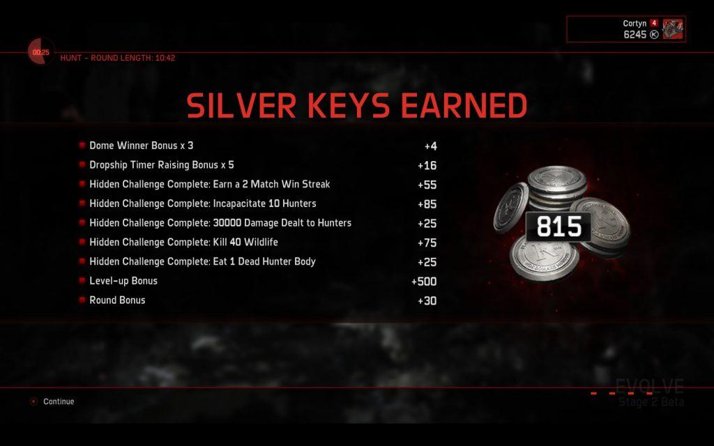Evolve Stage 2 Silver Keys