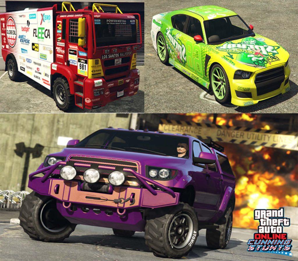 GTA 5 Online Autos für Stunts