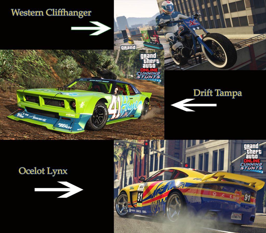 GTA 5 Online Stunt Fahrzeuge Auto Motorräder