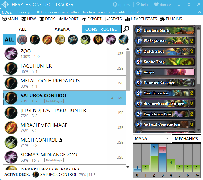 Hearthstone Deck Tracker Manager