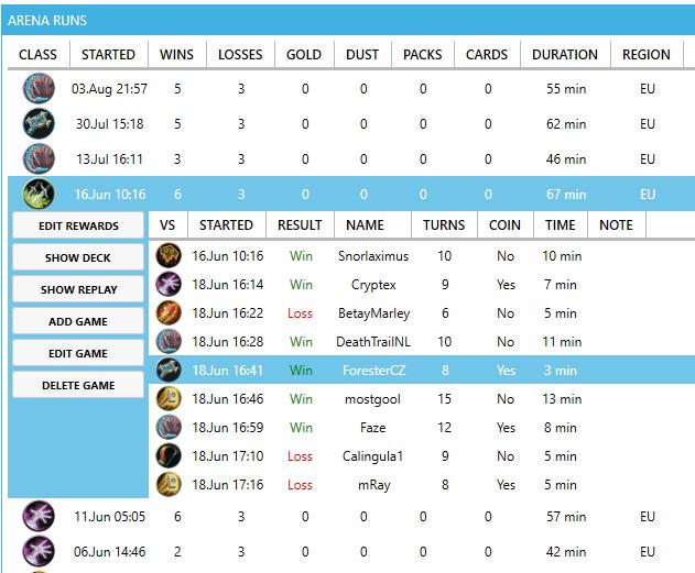Hearthstone Deck Tracker Statistik
